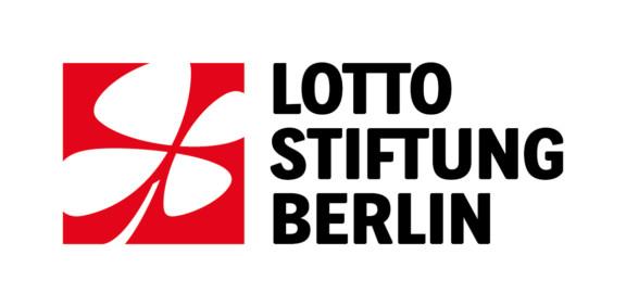 Logo Lottostiftung Berlin: Kleeblatt und ein Schriftzug daneben